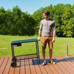 Campingaz Chariot Universel pour Plancha à Poser avec 2 Roues Acier Noir L82 x P46 x H73cm de la marque Campingaz image 3 produit