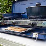 Campingaz Vario Fold 2000028967 Plaque de cuisson de camping à deux foyers pour cuisiner et gratiner, pliable, bleu de la marque Campingaz image 4 produit