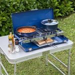 Campingaz Vario Fold 2000028967 Plaque de cuisson de camping à deux foyers pour cuisiner et gratiner, pliable, bleu de la marque Campingaz image 3 produit