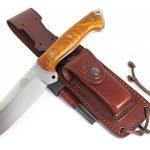 CELTIBERO - Couteau de chasse / Outdoor / Survie - Manche en bois de cocobolo / Micarta - Lame inox MOVA-58 avec étui de transport. Pierre d'affûtage et allume feu (firesteel) incluse. Fabriqué en Espagne. de la marque CDS-Survival image 1 produit