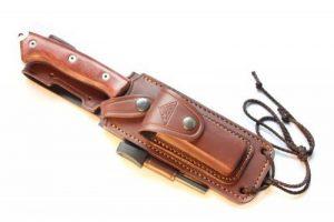 CELTIBERO - Couteau de chasse / Outdoor / Survie - Manche en bois de cocobolo / Micarta - Lame inox MOVA-58 avec étui de transport. Pierre d'affûtage et allume feu (firesteel) incluse. Fabriqué en Espagne. de la marque CDS-Survival image 0 produit