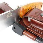 CELTIBERO - Couteau de chasse / Outdoor / Survie - Manche en bois de cocobolo / Micarta - Lame inox MOVA-58 avec étui de transport. Pierre d'affûtage et allume feu (firesteel) incluse. Fabriqué en Espagne. de la marque CDS-Survival image 3 produit