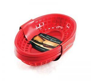 Charcoal Companion Panier de service Rouge 24,1 x 15,8 x 8 cm CC2019 de la marque Charcoal Companion image 0 produit