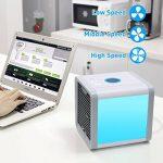Climatiseur Mobile Ventilateur, Arctic Air Refroidisseur d'Air USB Portable Refroidisseur D'air Personnel Puissant pour Maison/Bureau/Camping de la marque YIBANBAN image 4 produit