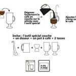 COOKUT - Ico Irish Coffee - Réalisez un parfait irish coffee maison chez vous - Outil spécial couche inclus - Set complet - Idéal pour tous les cocktails à couches de la marque Cookut image 4 produit