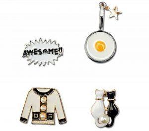 Créatif Broche en émail broche Des lettres vêtements Chat Casserole Cartoon Brooch 4Pcs de la marque Nine tail fox image 0 produit
