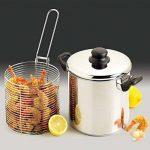 Cuiseur Faitout pour pâtes pot Tamis à spaghetti Couvercle Inox Plat, Acier inoxydable, 20 cm de la marque YEARGER image 3 produit