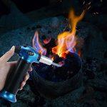 Culinary torche au butane, Leegoal (TM) de cuisine lampe de poche Chef Nourriture cuisson lampe de poche Flamme réglable rechargeables pour DIY, creme, brûlée, barbecue et pâtisserie Maison, camping, soudage, soudure bleu de la marque Leegoal image 1 produit
