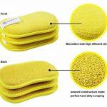 De Cuisine en microfibre de lavage de Pad, Vaisselle, chiffon de nettoyage à laver Up Pad. Double Face Wash Pad, chiffon de nettoyage Grill pour barbecue, cuisson et poêle à frire Tampon de nettoyage, anti-bulles, 16*10cm de la marque Goldmine image 4 produit