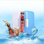 DFKEI Glacière 4 litres électrique | pour maintenir au chaud ou refroidir | Glacière thermoélectrique 12 Volt et 220 Volt | Mini-réfrigérateur | Glacière électrique camping | Glacière voiture | (Bleu) de la marque DFKEI image 3 produit
