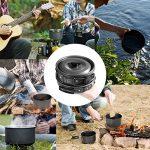 Diealles Kit de Cuisine en Camping, Ustensiles de Cuisine de Camping pour Camping, Pique-nique,BBQ, Randonnée, Pédestre,Anti-adhésifs pour 2-3 Personnes de la marque Diealles image 2 produit