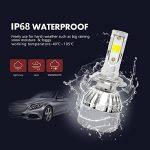 Diesel Auto Zone H7 Led Ampoules de Phare Pour Antibrouillard 8000LM 60W avec COB Chips 6000K/4300K/3000K Multi-couleur Ampoules de brouillard- 2 Ans de Garantie (un paquet de 2) de la marque Diesel AutoZone image 4 produit