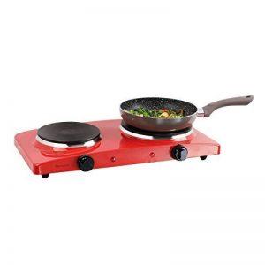 Double plaque de cuisson 2plaques de camping Réchaud de camping 5niveaux (Plaques de cuisson, 2500W, Mobile électrique Cuisinière, 2thermostats, rouge) de la marque Domoclip image 0 produit
