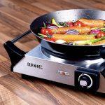 Duronic HP1SS Plaque de cuisson chauffante électrique en fonte - Réchaud de 1500W avec thermostat ajustable - Poignées intégrées de la marque Duronic image 1 produit