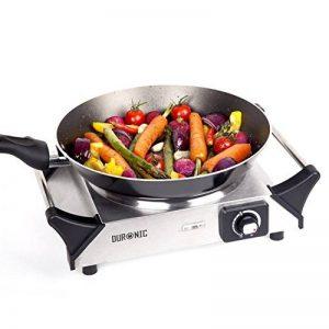 Duronic HP1SS Plaque de cuisson chauffante électrique en fonte - Réchaud de 1500W avec thermostat ajustable - Poignées intégrées de la marque Duronic image 0 produit
