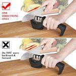 E-PRANCE Aiguiseur de Couteaux Knife Sharpener en 3 étapes: Encoche de Sable d'émeri, Tungstène acier, Céramique ,Affûteur affûtage (Noir) de la marque E-PRANCE image 2 produit