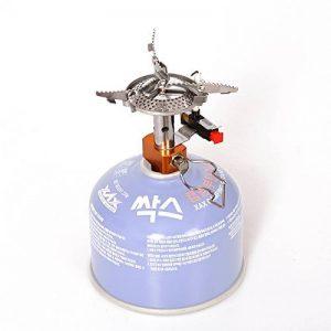 Ecent Mini Réchaud à gaz portable léger en alliage métal pour camping, pique-nique etc. de la marque Ecent image 0 produit