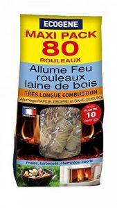 ECOGENE Allume-feu Rouleaux laine de bois x 80 de la marque ECOGENE image 0 produit