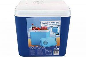 Edco Glacière 12V, box thermique 22l, bleu, pour voiture, voyage, mer, camping de la marque Edco image 0 produit