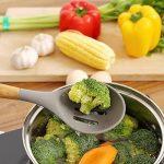 Ensemble de 5 ustensiles de cuisine en silicone avec manche en acacia naturel - Gris de la marque UK Plaque image 3 produit