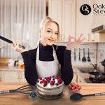 Ensemble de vaisselle de cuisine de 40 pièces - Ustensiles en nylon et acier inoxydable, comprend un éplucheur, des spatules, un presse-ail, des cuillères à mesurer et plus de la marque Oak & Steel image 2 produit