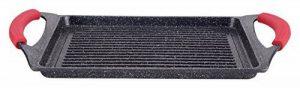 Euronovità EN-22141 Poêle grill avec revêtement en pierre de lave, 46x28x7cm, noir de la marque Euronovità image 0 produit