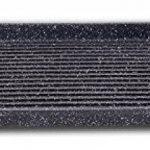 Euronovità EN-22141 Poêle grill avec revêtement en pierre de lave, 46x28x7cm, noir de la marque Euronovità image 1 produit