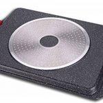 Euronovità EN-22141 Poêle grill avec revêtement en pierre de lave, 46x28x7cm, noir de la marque Euronovità image 2 produit