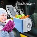Excelvan Mini Réfrigérateur de Voiture 7.5L DC 12V Frigidaire Embarqué Frigo portable pour voiture Camping Glacière Seau à Glace avec Sangle portable pour Voiture Maison, Bureau, Hôtel ou Dortoir - 2 en 1 Froid et Chaud de la marque Excelvan image 4 produit