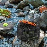 Extsud Cuisine Camping Pique-nique Camping Vaisselle Ultra 11pièces Cook Ware Kit Carte feuersteine Bracelets et couteau pour Outdoor Voyage Camping 1personne certifié FDA de la marque Extsud image 6 produit