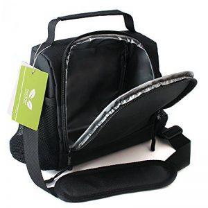 F40C4TMP Sac Fraicheur doux Isotherme Banquise Impermeable Refrigere Sac à Déjeuner Lunch Bag Transport de Nourriture avec Bandoulière Réglable (neuf noir) de la marque F40C4TMP image 0 produit