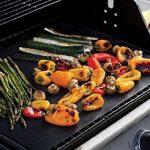 Fivefire Tapis de grille pour barbecue Lot de 5–four antiadhésive Revêtement en Téflon Tapis de cuisson–Parfait pour la cuisson au gaz, Charbon de bois, four électrique et grilles–réutilisable, durable, résistant à la chaleur barbecue Feuilles pour image 1 produit