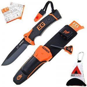 Gerber Bear Grylls Ultimate Pro Knife, Couteau de survie avec étui, feu Starter, aiguiseur, sifflet & survila lguide, avec le redtent Outdoor multifonction Chiffon en microfibre de la marque Gerber & RedTent image 0 produit