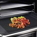 Grille barbecue Tapis, Tapis de Cuisson HTINAC Back Paillasson Rectangulaire en, la Durée, Revêtement Anti-Adhésif, et FDA LFGB Autorisation, Lot de 2, 42 * 36 cm de la marque HTINAC image 1 produit