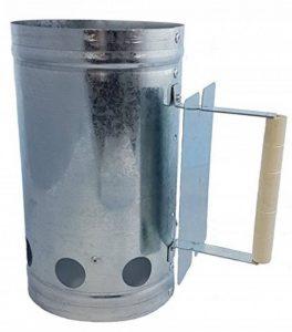 Grille métallique charbon léger avec manche en bois et le bouclier de chaleur de la marque Spetebo image 0 produit