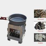 Haosen mini gazinière camping poele camping poele a bois camping cuisinière de camping - réchaud de camping portable pliable de la marque Haosen image 4 produit