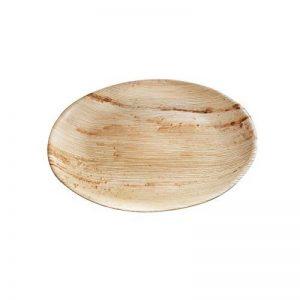 Haute qualité d'assiette en feuille de palmier kaufdichgrün I 25 pièces d'assiettes ronds du feuille palmier Ø23 cm I Bio jetable vaisselle pour fête rapidement décomposable de la marque kaufdichgruen image 0 produit