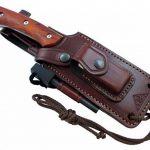 HISPANUS - Couteau de Outdoor / Survie - Manche en bois de cocobolo, Lame inox MOVA-58 avec étui de transport. Pierre d'affûtage et allume feu (firesteel) incluse - Fabriqué en Espagne. de la marque CDS-Survival image 2 produit