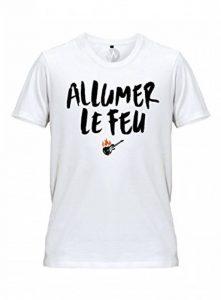 Homme T-Shirt Message Allumer le feu Chanson Johnny Hallyday de la marque KSS KSS KSS image 0 produit