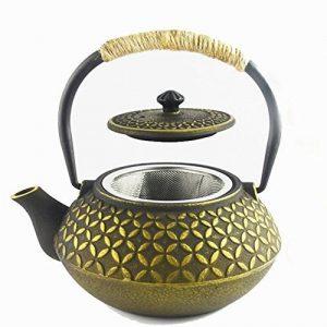 HwaGui théière en fonte japonaise bouilloire infuseur, 0,6L/600ml, pot thé d'or de la marque HwaGui image 0 produit