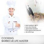 iNeibo 2pcs Pinces cuisine Professionnel en Acier inoxydable et Silicone alimentaire (Noir/ 30,5 & 23cm) de la marque iNeibo Kitchen image 2 produit