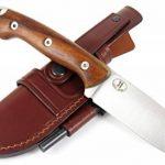 JEO-TEC Nº31: Outdoor / Survie / Couteau de chasse - Manche en bois de Cocobolo / Micarta - Lame inox MOVA 58 - Étui de transport en Cuir position multiple - Fabriqué en Espagne de la marque JEO-TEC image 1 produit