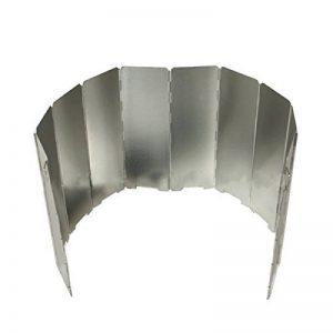 Jiele en alliage d'aluminium Vent écrans pliable Réchaud à gaz Pare-vent Ultra léger extérieur cuisinière Réchaud 10assiettes pare-brise, pique-nique Réchaud à gaz Vent écran Shield de la marque Jiele image 0 produit
