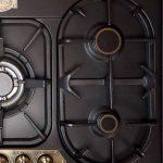 Kaiser kg 9325Em Exclusif Nostalgie cuisson gaz 90cm autosuffisants/Cuisinière à gaz Luxe fabricant Kaiser/Gaz Plaque/émail noir/Gaz/5haute wertge brûleurs/Graveur massive sommiers/Wok en fonte 3,8kW avec adaptateur en fonte/de gaz kochstelle/Réchaud image 4 produit