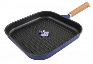 Karcher 122128 Poêle à griller en fonte d'aluminium avec manche en bois, bleu foncé de la marque Karcher image 0 produit