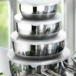 Karcher Jasmin - Batterie de cuisine, 20 pièces avec 6 couvercles en verre et 4 saladiers, convient à induction, inox de la marque Karcher image 2 produit