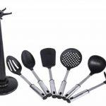 Karcher Lisa - Jeu d'ustensiles de cuisine en inox/plastique avec support, 7 pièces de la marque Karcher image 1 produit