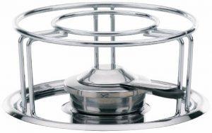 Kela 60127 réchaud pour fondues et wok, métal chromé, diamètre 23,5 cm, hauteur 10,5 cm 'Maxi' de la marque Kela image 0 produit