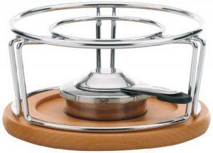 Kela 61000 réchaud pour fondues et wok, métal chromé/bois, diamètre 21 cm, hauteur 11,5 cm 'Natura' de la marque Kela image 0 produit