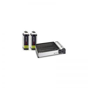 Kemper Barbecue gaz portable 1.9 KW grille anti adhesive + 4 cartouches gaz camping de la marque Kemper image 0 produit